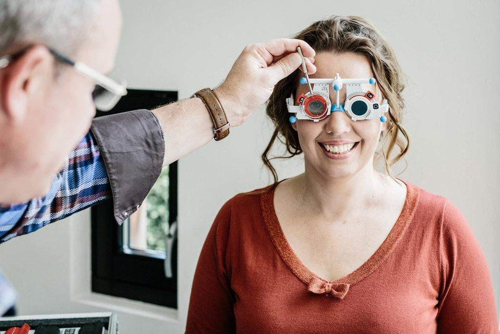 Oogmeting met pasbril