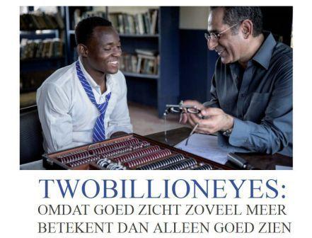 Dé Opticien aan Huis is trotse ambassadeur van TwoBillionEyes